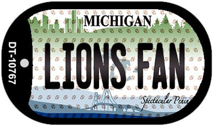 Lions Fan Michigan Novelty Metal Dog Tag Necklace DT-10767