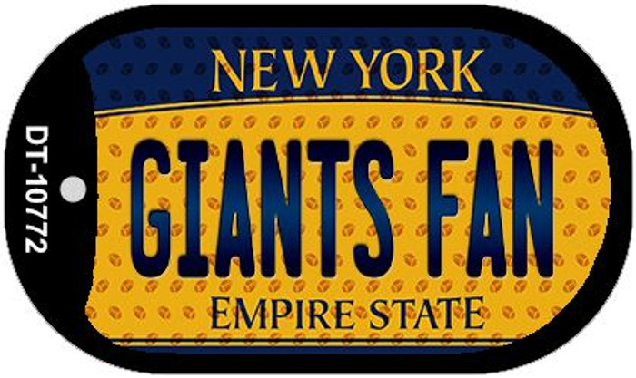 Giants Fan New York Novelty Metal Dog Tag Necklace DT-10772