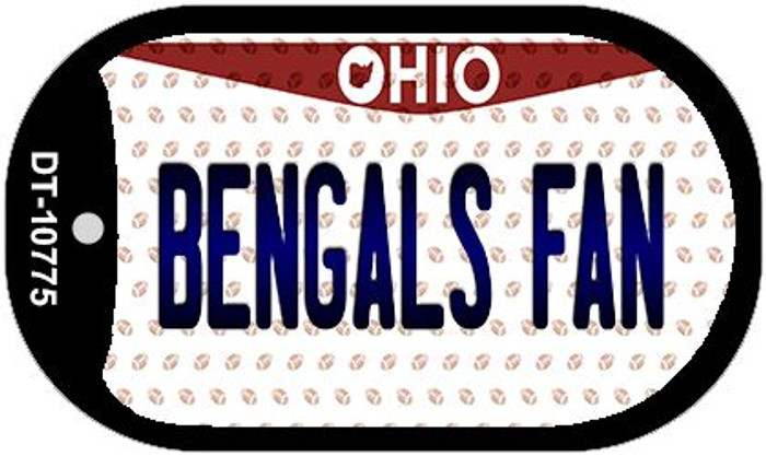 Bengals Fan Ohio Novelty Metal Dog Tag Necklace DT-10775