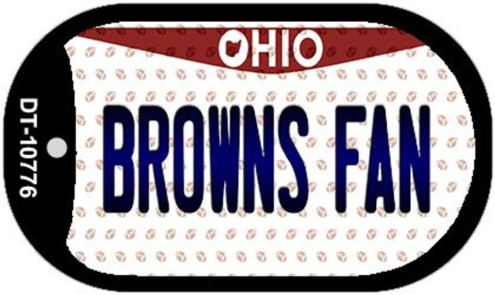 Browns Fan Ohio Novelty Metal Dog Tag Necklace DT-10776