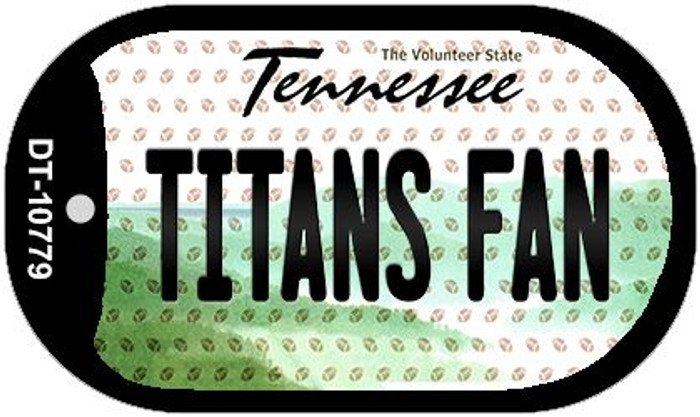 Titans Fan Tennessee Novelty Metal Dog Tag Necklace DT-10779