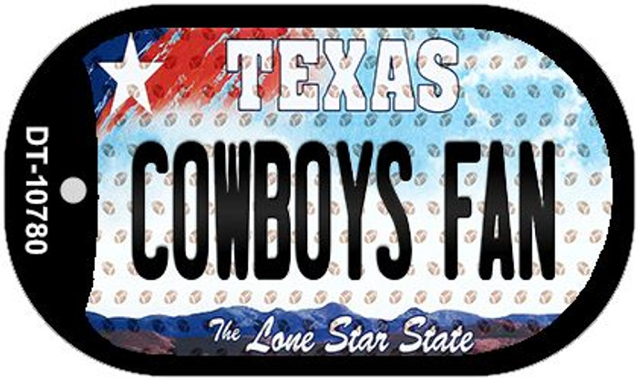 Cowboys Fan Texas Novelty Metal Dog Tag Necklace DT-10780