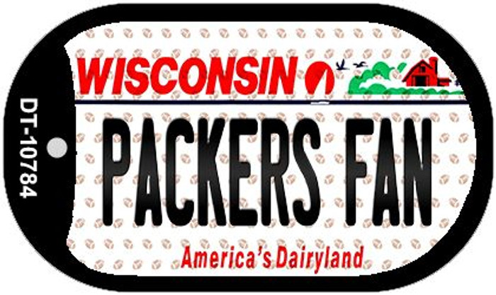 Packers Fan Wisconsin Novelty Metal Dog Tag Necklace DT-10784