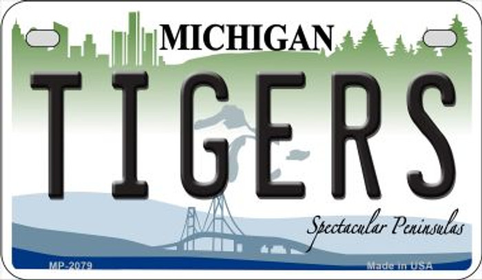 Tigers Michigan Novelty Metal Motorcycle Plate MP-2079