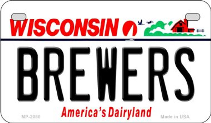 Brewers Wisconsin Novelty Metal Motorcycle Plate MP-2080