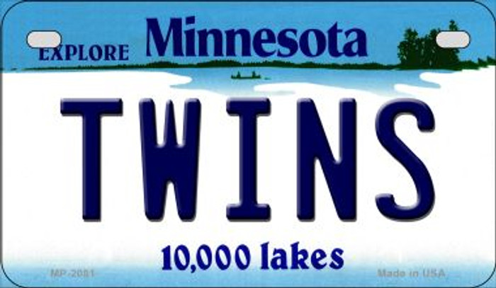 Twins Minnesota Novelty Metal Motorcycle Plate MP-2081