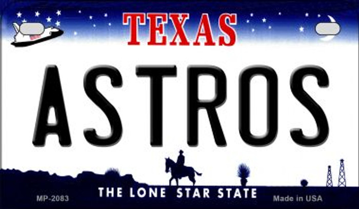 Astros Texas Novelty Metal Motorcycle Plate MP-2083