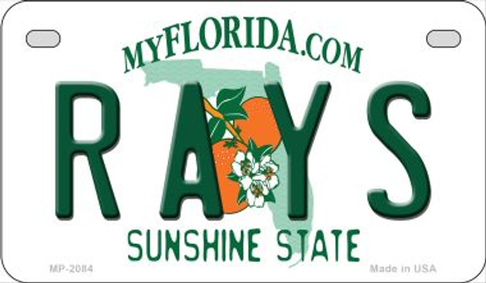 Rays Florida Novelty Metal Motorcycle Plate MP-2084