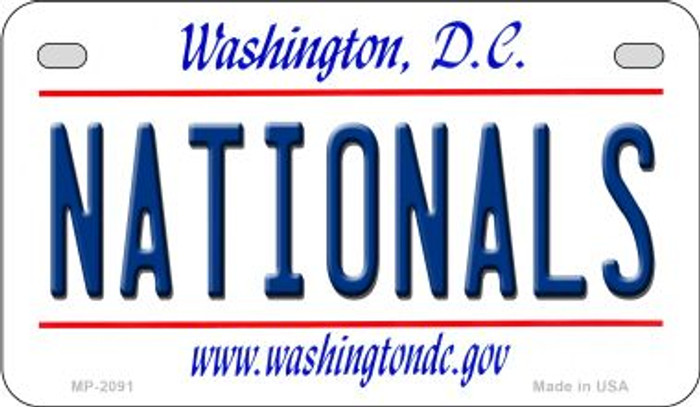 Nationals Washington DC Novelty Metal Motorcycle Plate MP-2091
