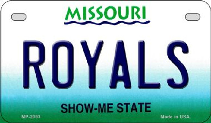 Royals Missouri Novelty Metal Motorcycle Plate MP-2093