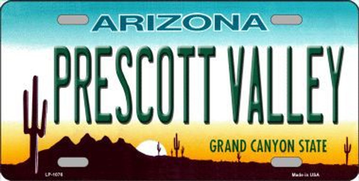 Prescott Valley Arizona Novelty Metal License Plate
