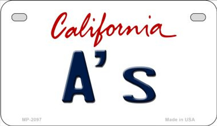 As California Novelty Metal Motorcycle Plate MP-2097