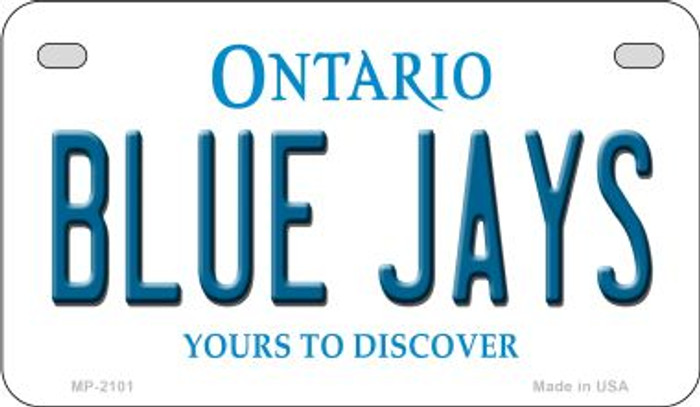 Blue Jays Ontario Novelty Metal Motorcycle Plate MP-2101