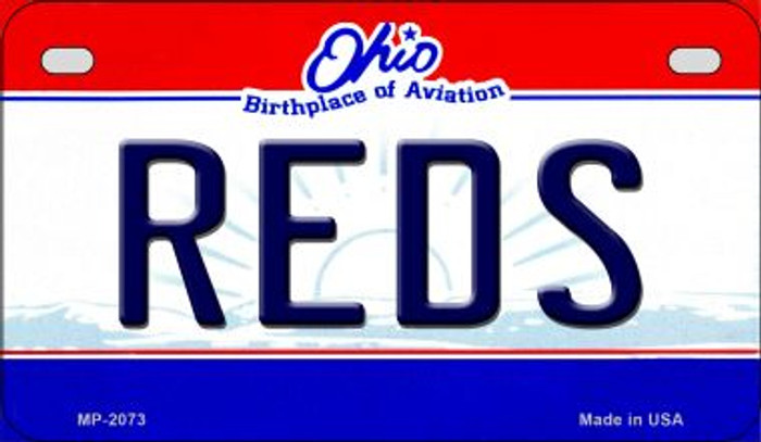 Reds Ohio Novelty Metal Motorcycle Plate MP-2073