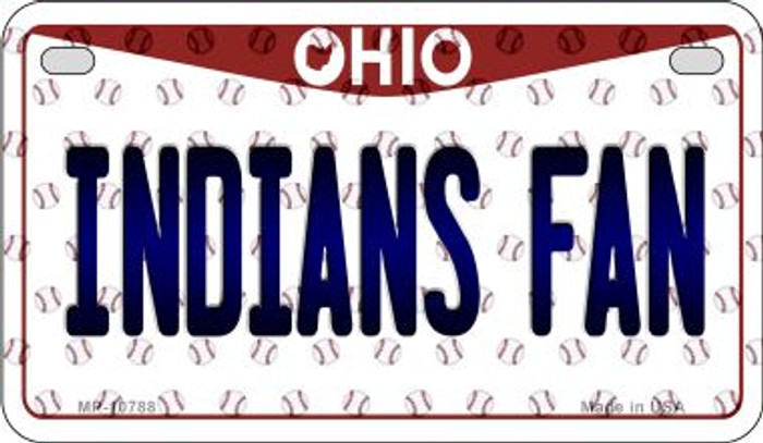 Indians Fan Ohio Novelty Metal Motorcycle Plate MP-10788