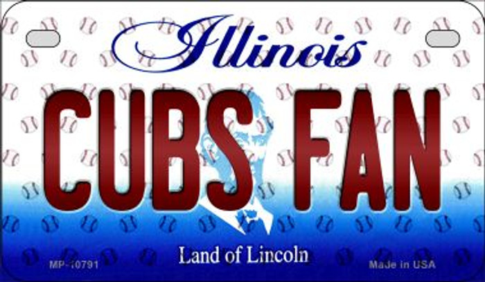 Cubs Fan Illinois Novelty Metal Motorcycle Plate MP-10791