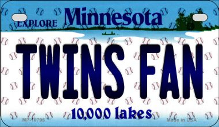 Twins Fan Minnesota Novelty Metal Motorcycle Plate MP-10795