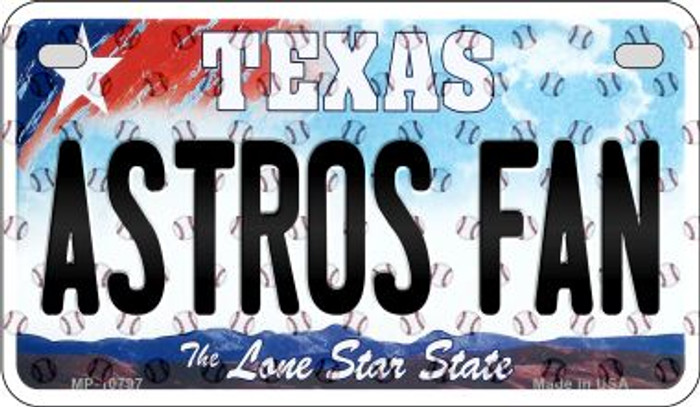 Astros Fan Texas Novelty Metal Motorcycle Plate MP-10797