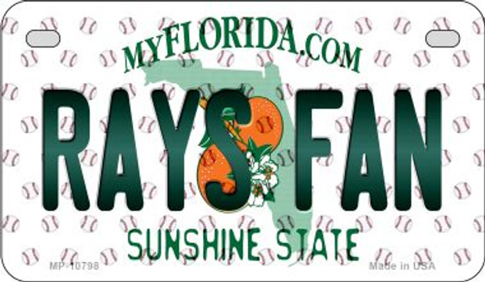 Rays Fan Florida Novelty Metal Motorcycle Plate MP-10798