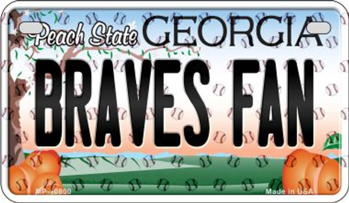 Braves Fan Georgia Novelty Metal Motorcycle Plate MP-10800