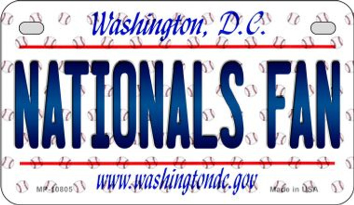 Nationals Fan Washington DC Novelty Metal Motorcycle Plate MP-10805