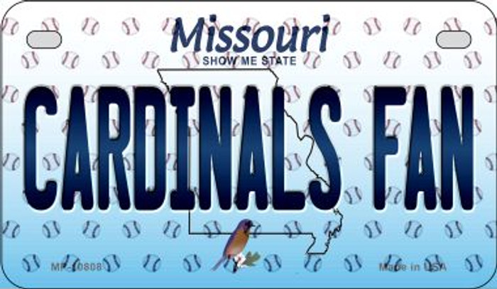 Cardinals Fan Missouri Novelty Metal Motorcycle Plate MP-10808