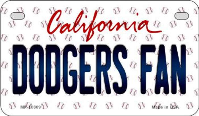 Dodgers Fan California Novelty Metal Motorcycle Plate MP-10809