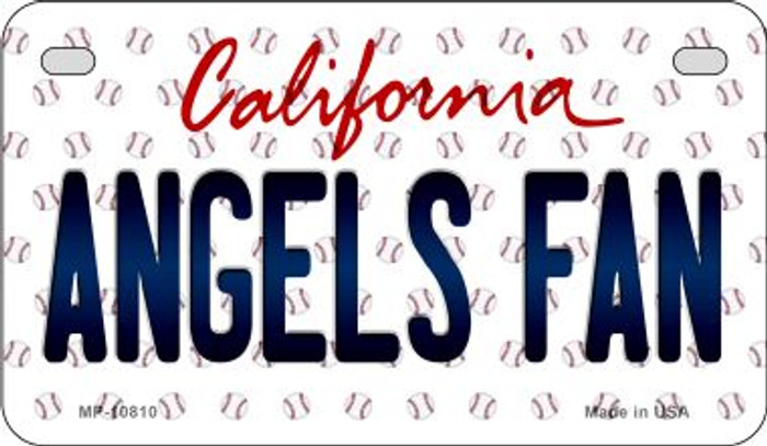 Angels Fan California Novelty Metal Motorcycle Plate MP-10810