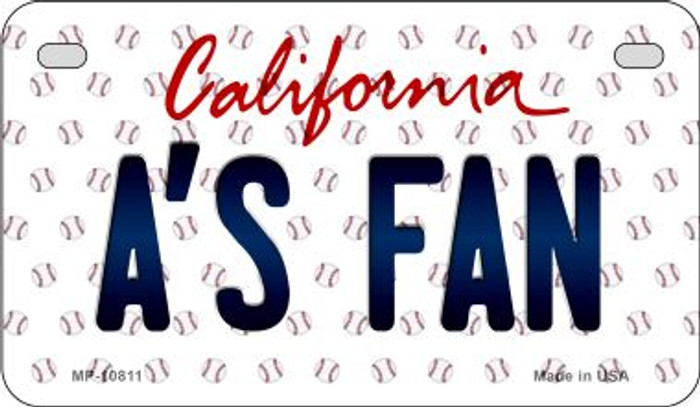 As Fan California Novelty Metal Motorcycle Plate MP-10811
