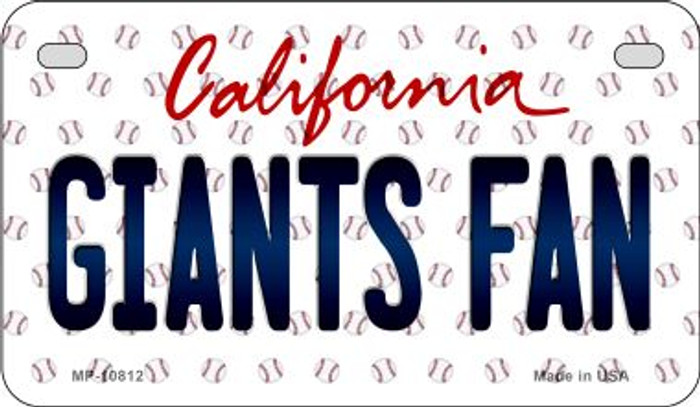 Giants Fan California Novelty Metal Motorcycle Plate MP-10812