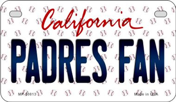 Padres Fan California Novelty Metal Motorcycle Plate MP-10813