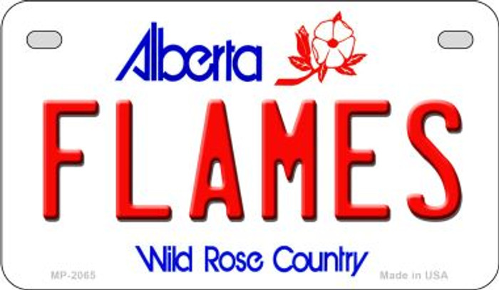 Flames Alberta Novelty Metal Motorcycle Plate MP-2065
