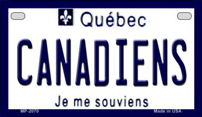 Canadiens Quebec Novelty Metal Motorcycle Plate MP-2070