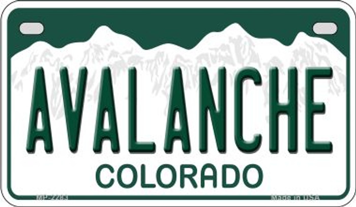 Avalanche Colorado Novelty Metal Motorcycle Plate MP-2283