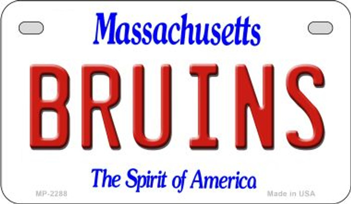 Bruins Massachusetts Novelty Metal Motorcycle Plate MP-2288
