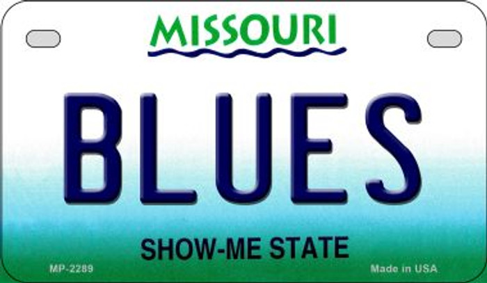 Blues Missouri Novelty Metal Motorcycle Plate MP-2289