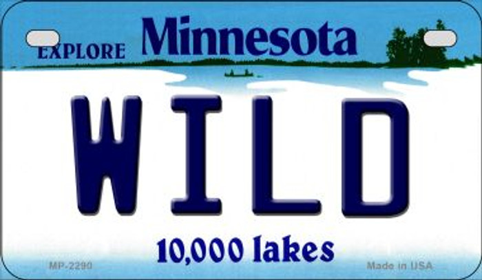 Wild Minnesota Novelty Metal Motorcycle Plate MP-2290