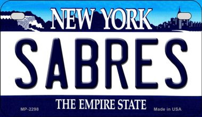 Sabres New York Novelty Metal Motorcycle Plate MP-2298