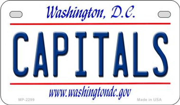 Capitals Washington DC Novelty Metal Motorcycle Plate MP-2299