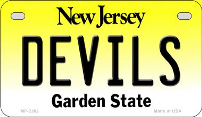 Devils New Jersey Novelty Metal Motorcycle Plate MP-2302