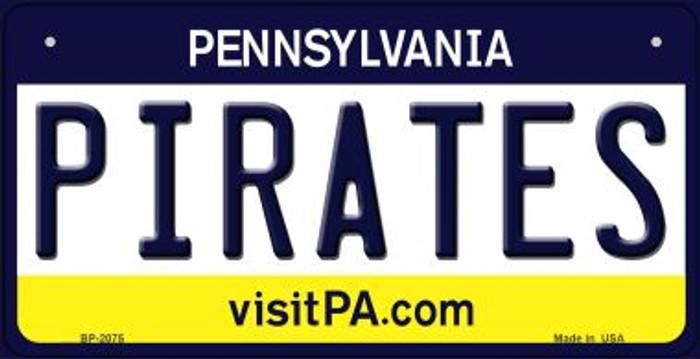 Pirates Pennsylvania Novelty Metal Bicycle Plate BP-2075