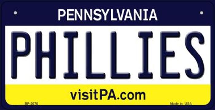 Phillies Pennsylvania Novelty Metal Bicycle Plate BP-2076