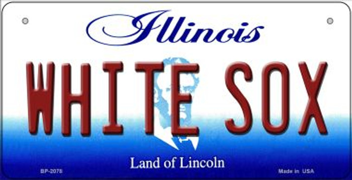 White Sox Illinois Novelty Metal Bicycle Plate BP-2078