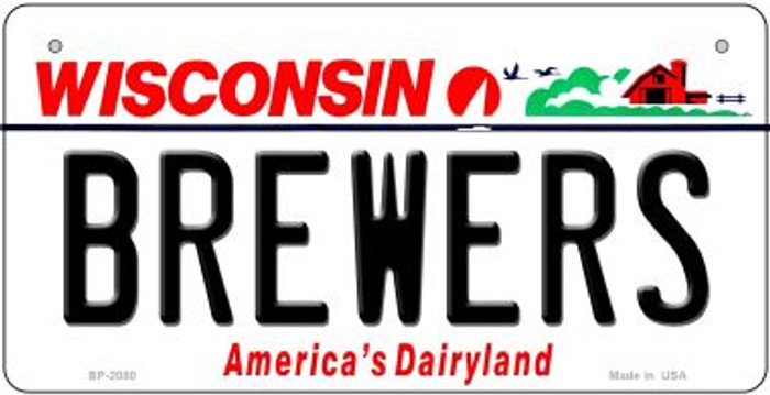 Brewers Wisconsin Novelty Metal Bicycle Plate BP-2080