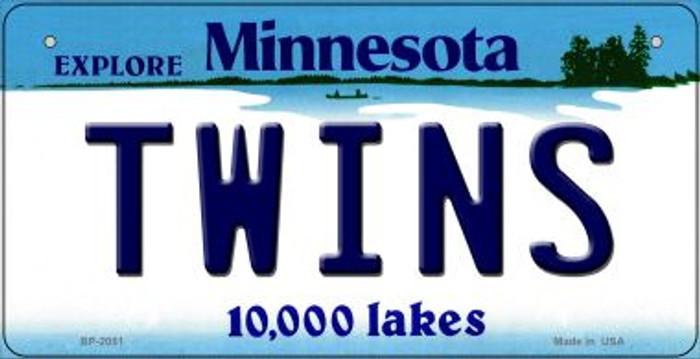 Twins Minnesota Novelty Metal Bicycle Plate BP-2081