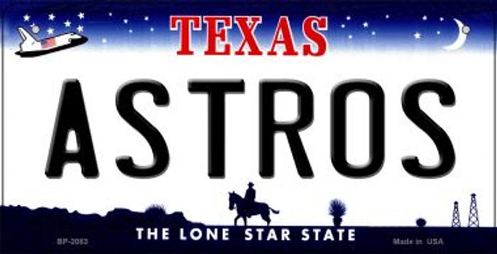 Astros Texas Novelty Metal Bicycle Plate BP-2083