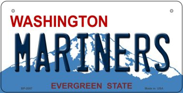 Mariners Washington Novelty Metal Bicycle Plate BP-2087