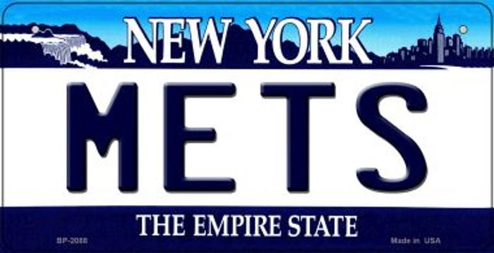 Mets New York Novelty Metal Bicycle Plate BP-2088