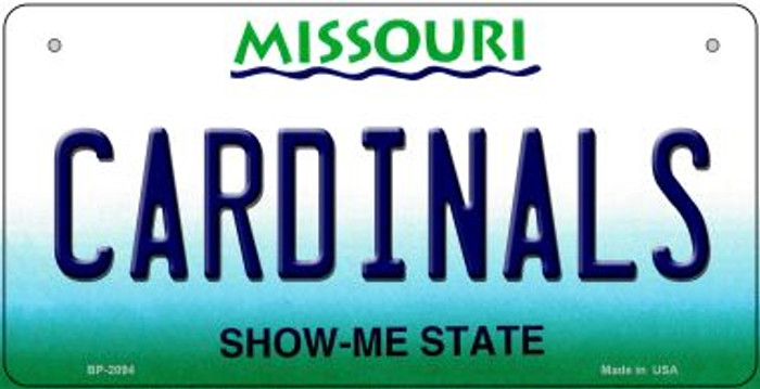 Cardinals Missouri Novelty Metal Bicycle Plate BP-2094