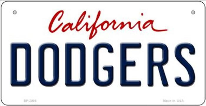 Dodgers California Novelty Metal Bicycle Plate BP-2095